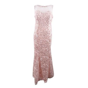 SL Fashions Women's Soutache Mermaid Gown - Blush