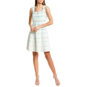 Lela Rose Textured Knit A-Line Dress