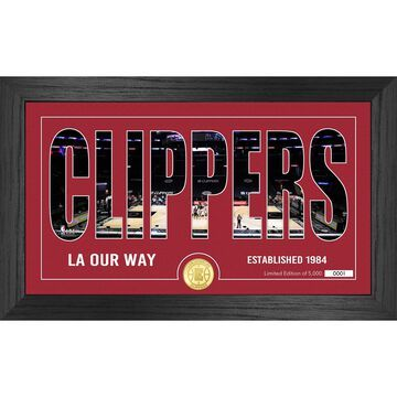LA Clippers Highland Mint 12'' x 20'' Silhouette Bronze Coin Photo Mint