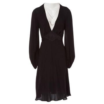 Sonia Rykiel Black Silk Dresses