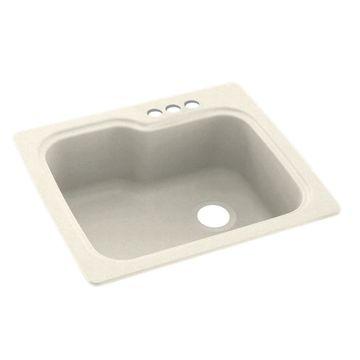 Swanstone 25-in x 22-in Pebble Single-Basin Drop-in 3-Hole Residential Kitchen Sink