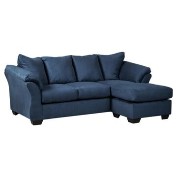 Signature Design by Ashley, Darcy Contemporary Blue Sofa Chaise