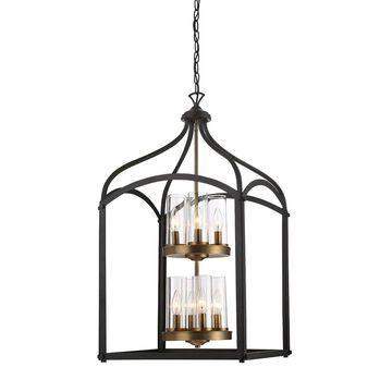 Designers Fountain Avondale Oil Rubbed Bronze Modern/Contemporary Clear Glass Cage Medium (10-22-in) Multi-light | 87658-ORB