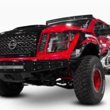 Addictive Desert Designs F912472810103 Venom R Full Width Front Pre-Runner Bumper 2016-2017 Titan, Black