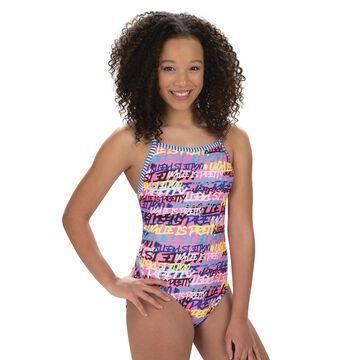 Women's Dolfin Uglies Print V-2 Open Back One-Piece Swimsuit