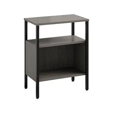 """Safco Simple 2-Shelf 30""""H Bookcase, Sterling Ash (5507BLGR)"""