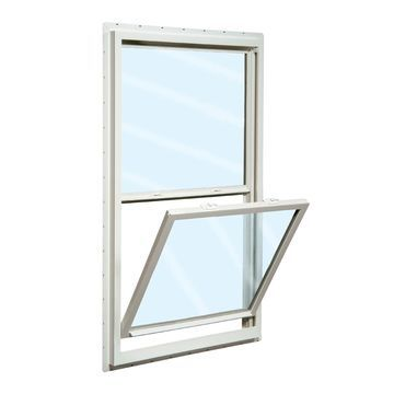 ReliaBilt 150 Vinyl New Construction White Exterior Single Hung Window (Rough Opening: 36-in x 60-in; Actual: 35.5-in x 59.5-in)
