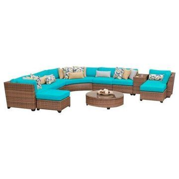 TK Classics Laguna 11-Piece Outdoor Wicker Sofa Set, Aruba