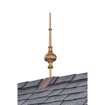 Good Directions Copper Copper Roof-Mount Finial Weathervane