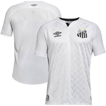 Men's Umbro White Santos FC 2020/21 Home Replica Jersey
