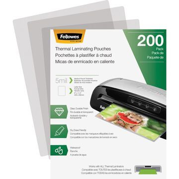 Fellowes Laminating Pouches - Letter, 5 mil, 200 Pack