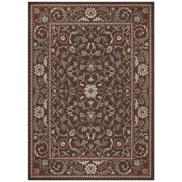 Concord Global Flora Area Rug, Brown, 6.5X9 Ft