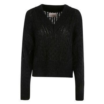 Laneus V-neck Knitted Sweater