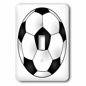 3dRose Soccer Ball, Double Toggle Switch