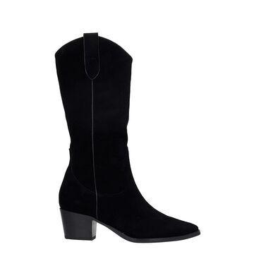Bibi Lou Texan Boots In Black Suede