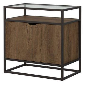 Bush Furniture Anthropology Record Player Stand with Storage