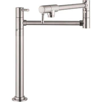 Hansgrohe HG Kitchen Steel Optik 2-Handle Wall-Mount Pot Filler Handle Kitchen Faucet   04219800