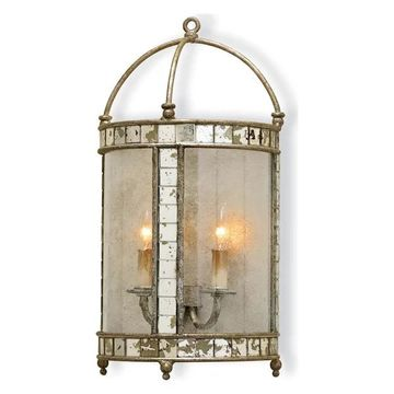 Currey and Company 5032 Corsica Wall Sconce - Silver