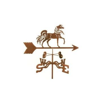 Ez Vane Arabian Horse Weathervane With 4-Sided Mount