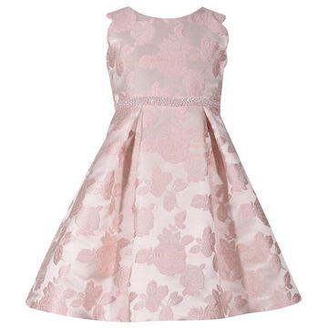 Girls 7-16 Bonnie Jean Pleated Jacquard Dress
