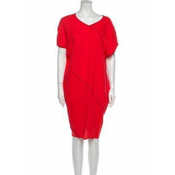 Virgin Wool Knee-Length Dress w/ Tags Wool
