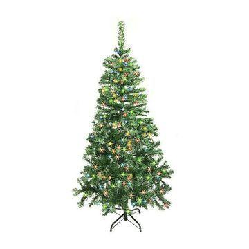 ALEKO Lighted Christmas Tree 250LED Multi-Color Lights Indoor Holiday Decor 5 Ft