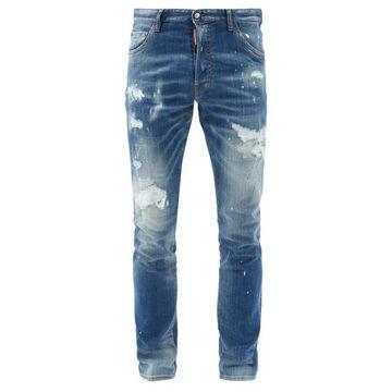 Dsquared2 - Cool Guy Distressed Slim-leg Jeans - Mens - Blue