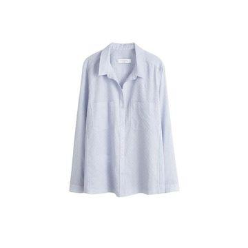 Violeta BY MANGO - Swiss tulle shirt sky blue - 16 - Plus sizes