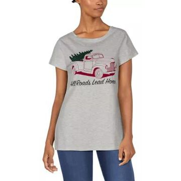 Natural Reflections Red Truck Short-Sleeve Tee for Ladies