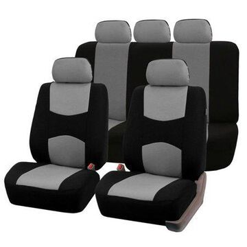 FH GROUP Multifunctional Flat Cloth Full Set Seat Covers with bonus Air Freshener