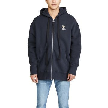 Maison Kitsune Long Sleeve Oversized Zipped Hoodie