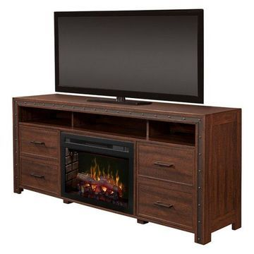 Dimplex Thom Media Console Electric Fireplace With Logs