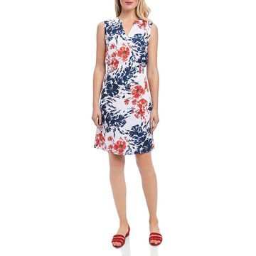 Foxcroft Womens Sleeveless Floral Print Party Dress