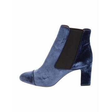 Colorblock Pattern Chelsea Boots Blue