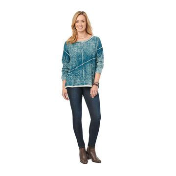 Democracy Women's Plus Pigment-Washed Sweater