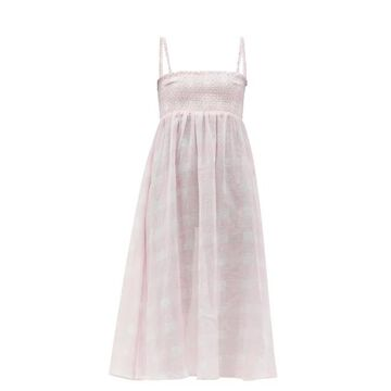 Solid & Striped - The Willow Smocked Cotton-blend Dress - Womens - Pink