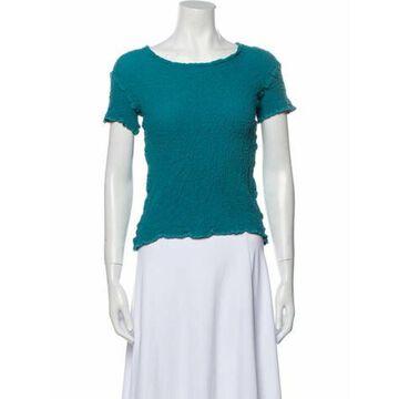 Scoop Neck Short Sleeve T-Shirt Blue