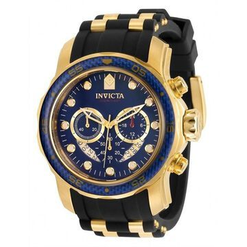 Invicta Men's 35416 'Pro Diver' Polyurethane and Stainless Steel Watch - Blue