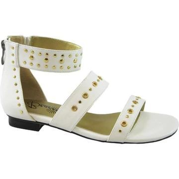 Beacon Shoes Women's Jillian Gladiator Sandal White Polyurethane