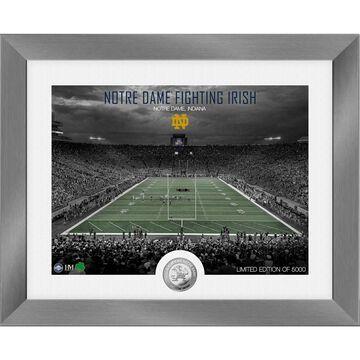 Notre Dame Fighting Irish Highland Mint 13'' x 16'' Art Deco Stadium Silver Coin Photo Mint