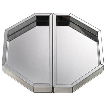 Lazy Susan Mirrored Trays, Set Of 2