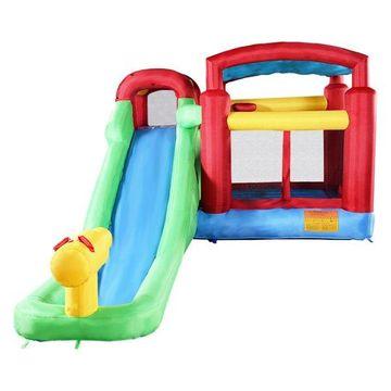 Costway Inflatable Moonwalk Water Slide Pool Bounce House Jumper Bouncer
