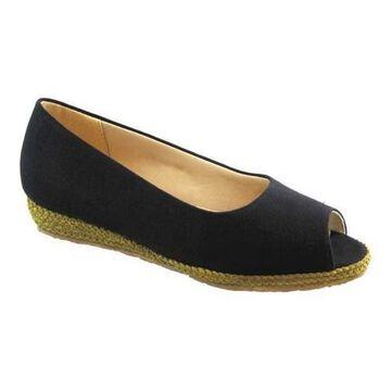Women's Beacon Shoes Tucson Espadrille Black Textile
