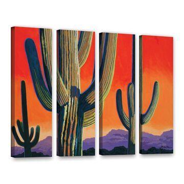ArtWall Rick Kersten 'Saguaro Dawn' 4 Piece Gallery-Wrapped Canvas Set - Multi