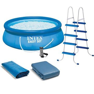 Intex 15-ft x 15-ft x 48-in Round Above-Ground Pool | 84368