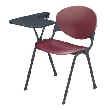 KFI Stacking School Chair, Writing Tablet, Burgundy Finish, Right Tablet