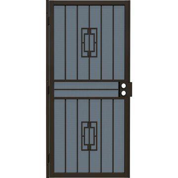 Gatehouse Ventura Bronze Steel Surface Mount Single Security Door (Common: 36-in x 81-in; Actual: 39-in x 81.75-in)