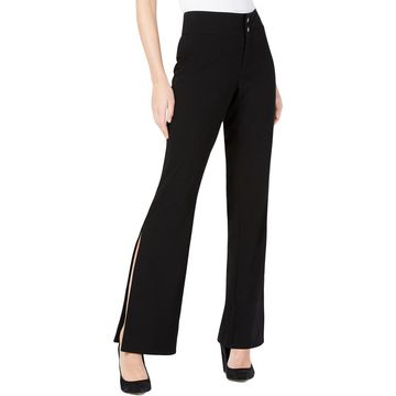 XOXO Womens Solid Split Calf Dress Pants