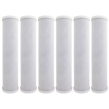 Tier1 Replacement for Pentek EP-20BB 5 Micron 20 x 2.5 Activated Carbon Block Water Filter 6 Pack