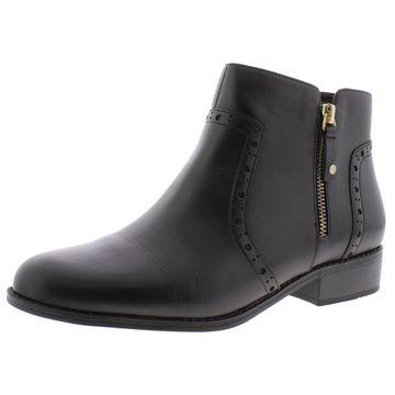 Giani Bernini Womens Nieve Leather Ankle Booties